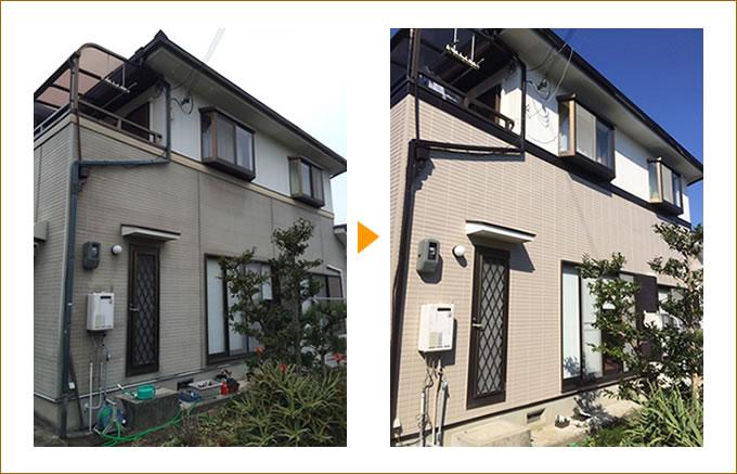 外壁塗装・屋根塗装の施工事例01