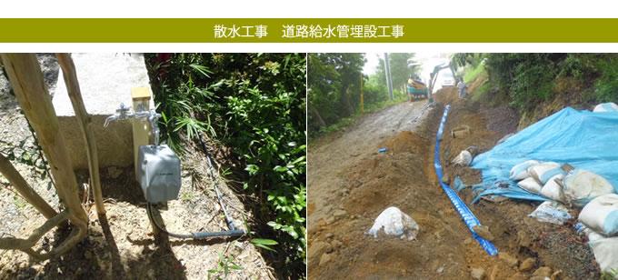 阪南市雷蔵寺様道路給水管埋設工事