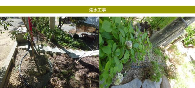 阪南市雷蔵寺様潅水工事