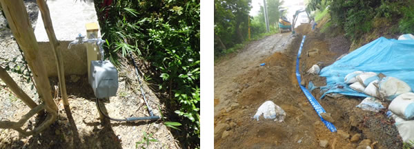 散水工事|道路給水管埋設工事