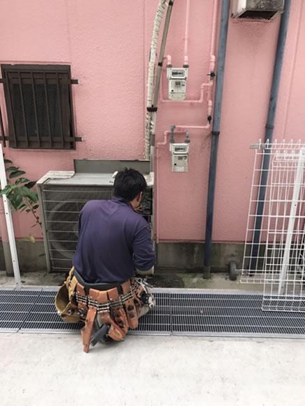 泉佐野市店舗エアコン取替