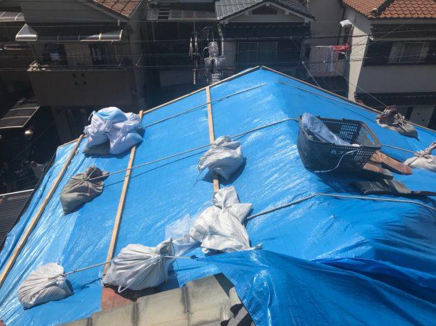 台風被害屋根 工事前