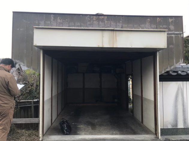 工事前 車庫